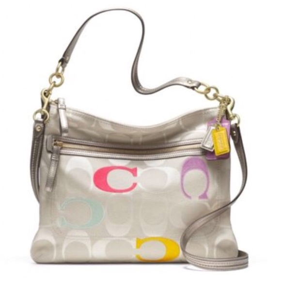Coach Handbags - Coach | Poppy Embroidered Signature C Perri Hippie